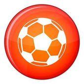 Fotbalový míč ikona, ploché styl