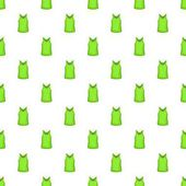 Green men t-shirt pattern Cartoon illustration of green men t-shirt vector pattern for web