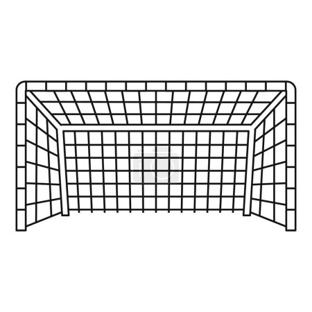 Soccer goal icon, outline style