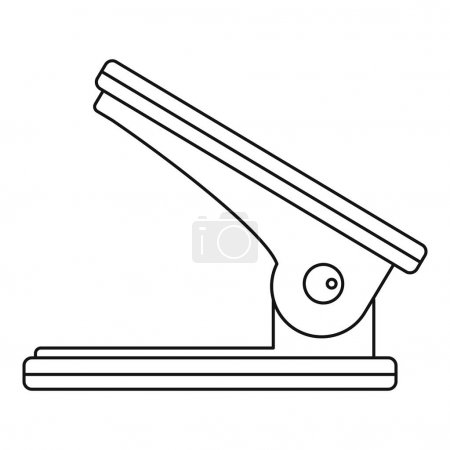 Illustration for Hole puncher icon. Outline illustration of hole puncher vector icon for web - Royalty Free Image