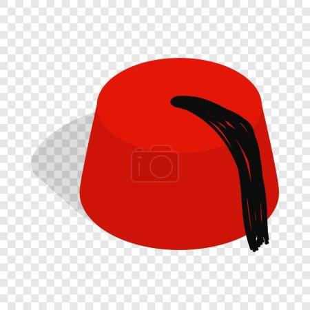 Turkish hat, fez isometric icon
