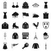 Lightweight clothing icons set Simple set of 25 lightweight clothing vector icons for web isolated on white background