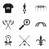 Props for movie icons set simple style