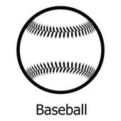 Baseball icon simple black style