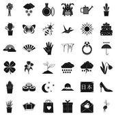 Snow icons set simle style