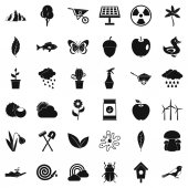 Grass icons set simple style