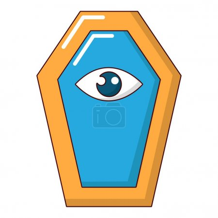 Pharaoh coffin icon. Cartoon illustration of phara...