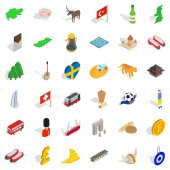 Cooking icons set isometric style