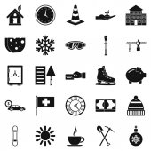 Villa icons set Simple set of 25 villa vector icons for web isolated on white background