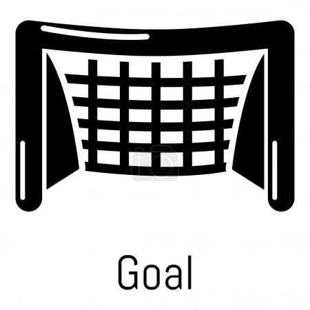 Goal soccer icon, simple black style