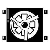 Dynamo car detail icon simple style