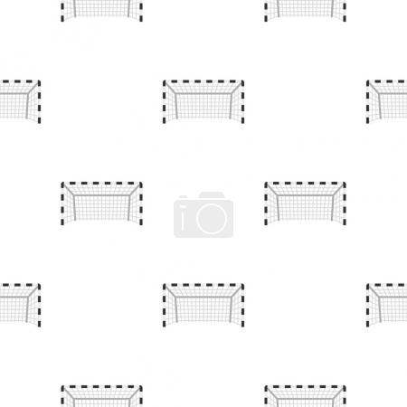 Football or soccer gate pattern seamless