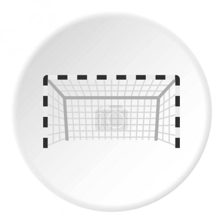Football or soccer gate icon circle