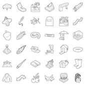 Atmospheric icons set outline style