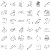 Air environment icons set outline style