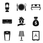 Tavern icons set simple style