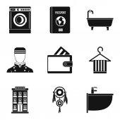 Drinking establishment icons set simple style