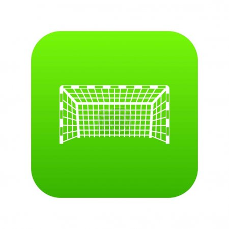 Goal post icon digital green