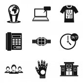 Modern technology icon set Simple set of 9 modern technology vector icons for web design isolated on white background