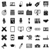 Financial icons set simle style