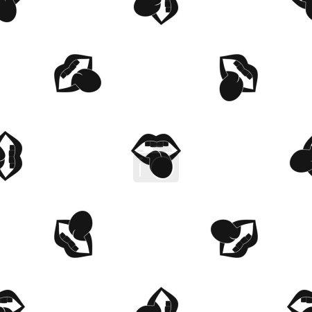 Rock emblem pattern seamless black