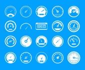 Dashboard icon blue set vector