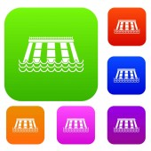 Hydroelectric power station set color collection