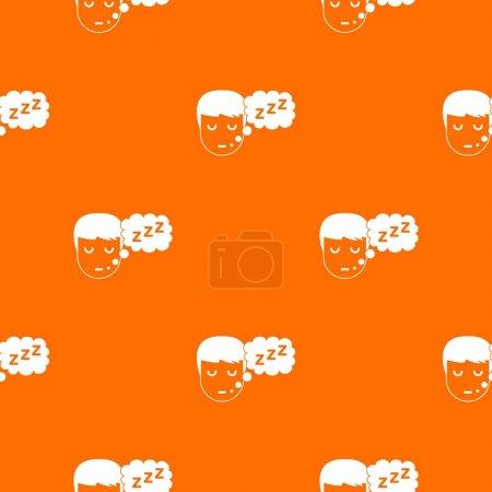 Boy head with speech bubble pattern seamless