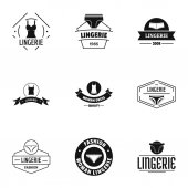Linen logo set simple style