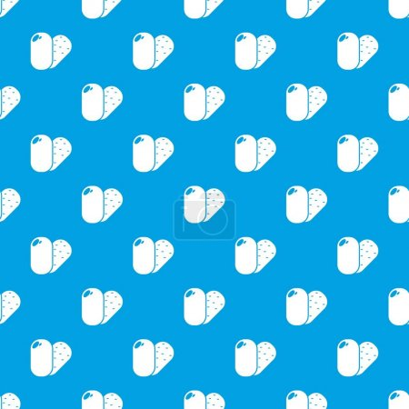 Soap pattern vector seamless blue