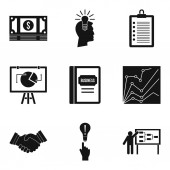 Special computer icons set simple style