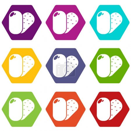 Soap icons set 9 vector