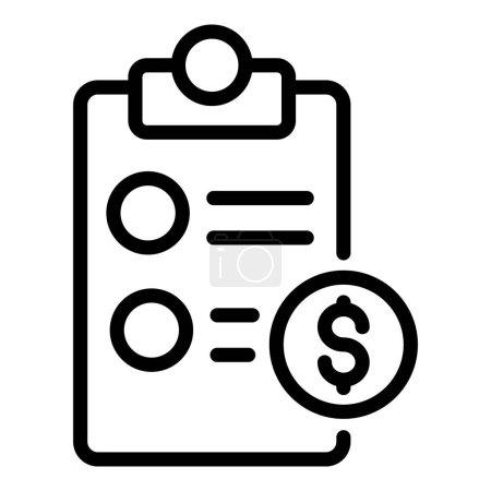 Illustration for Private clinic payment icon. Outline private clinic payment vector icon for web design isolated on white background - Royalty Free Image