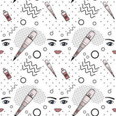 Vector seamless pattern of equipment for permanent make-up Used for backgrounds on the site business cards wallpaper textiles