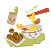 Cute illustrate vector for Japanese set menu