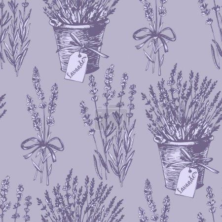 Graphic lavender pattern