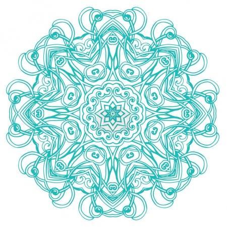 Turquoise patterned mandala