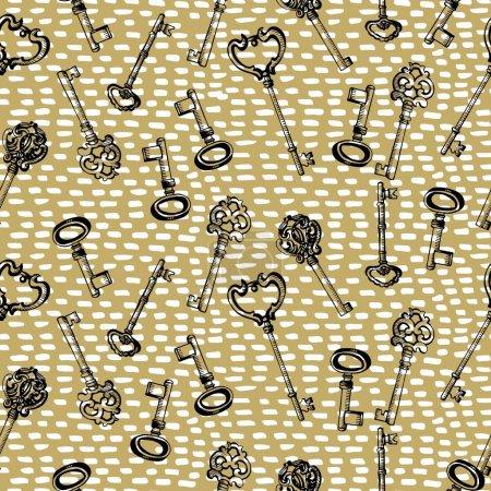 Seamless pattern with keys