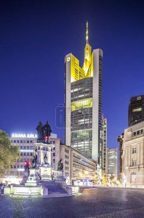 twilight in Frankfurt am Main