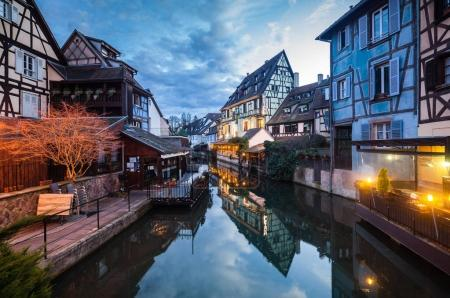 evening townscape of Colmar
