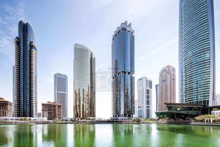 Photo for Daytime view of modern skyscrapers in Dubai - Royalty Free Image