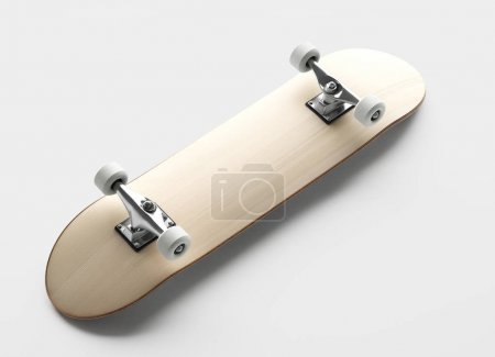 mockup of skateboard on grey background