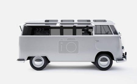 van car 3D rendering