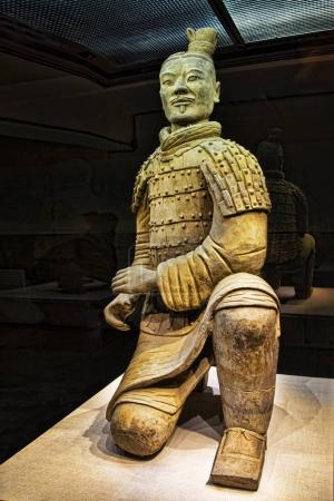 Kneeling Archer unearthed in Pit 2, Terracotta Army Xian China