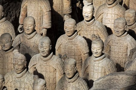 World famous Terracotta Army located in Xian China