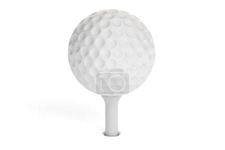 White golf ball on a