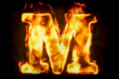 Brandbrief m brennendes Flammenlicht, 3D-Rendering