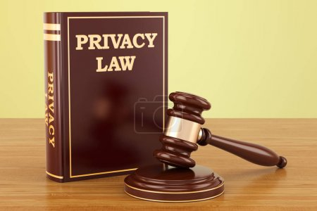 Privacy Law concept, 3D rendering