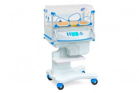 Neonatal incubator, isolette. 3D rendering