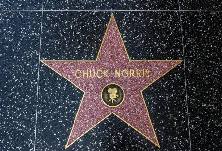 Chuck Norriss Star Hollywood Walk